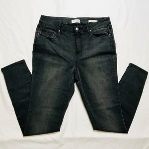 Jessica Simpson High Rise Skinny Charcoal Jeans